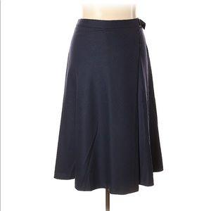 Talbots Italian Flannel Faux Wrap Skirt